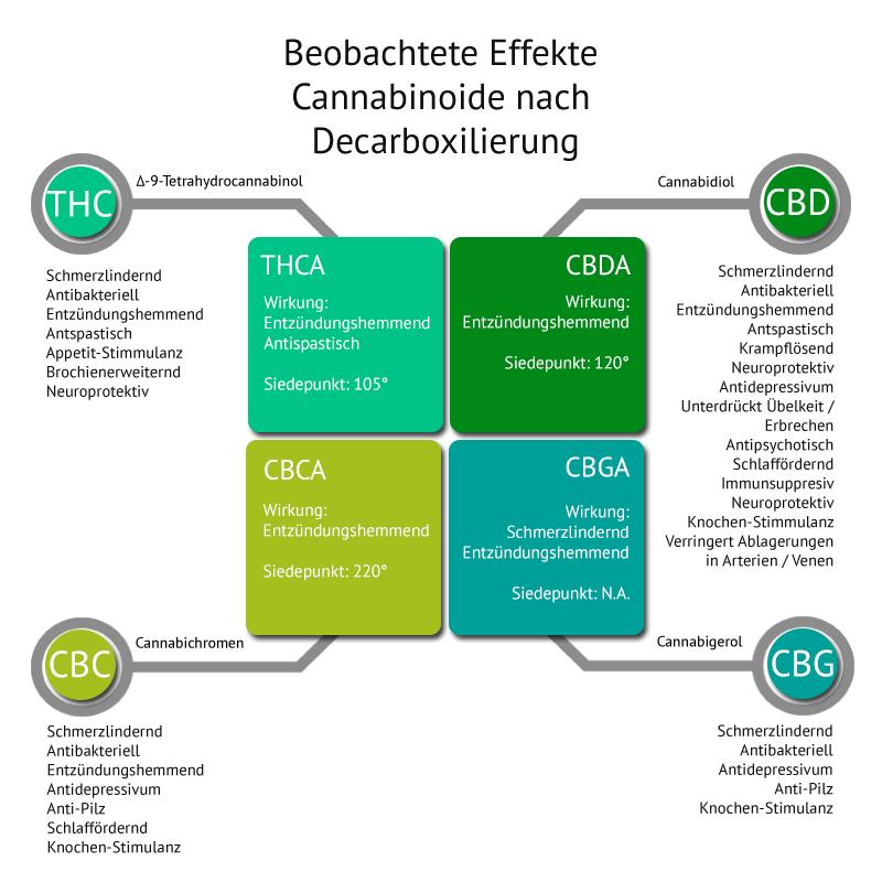 Siedepunkt Cannabinoide Effekt